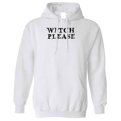 Novelty Halloween Hoodie Witch Please Slogan Hooded Jumper