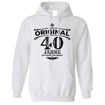 40th Birthday Hoodie Original Aged Forty 40 Years Hooded Jumper
