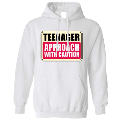 Approach With Caution Teenager Hoodie