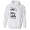Utencils Hoodie The Art Supplies List Hooded Jumper