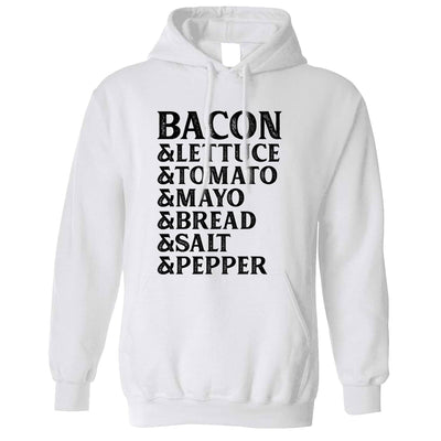 BLT Hoodie Hood Bacon Lettuce Tomato Sandwhich