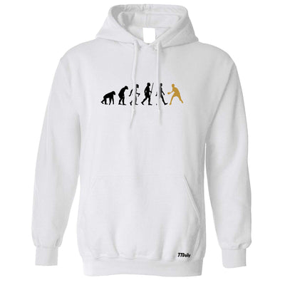Table Tennis Hoodie The Evolution Of Man Gold Hooded Jumper