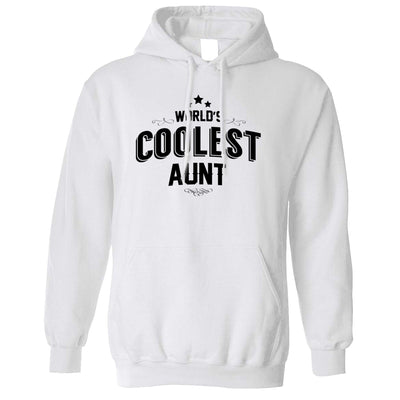 Novelty Hoodie Worlds Coolest Aunt Slogan Hooded Jumper