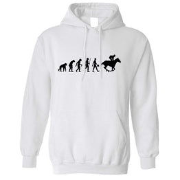 Sport Unisex Hoodie Evolution Of Horse Riding Equestrian