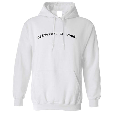 Novelty Slogan Hoodie Different Is Good Hooded Jumper