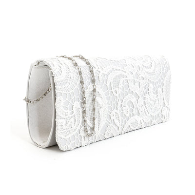 Womens Satin Floral Lace Designer Party Clutch Bag Purse For Ladies