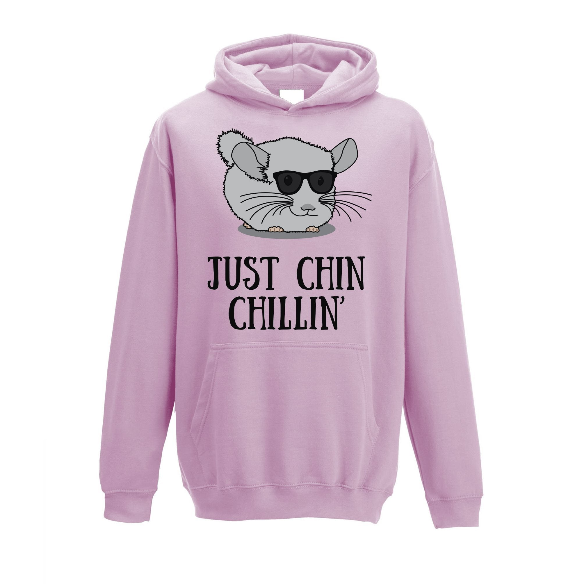 Novelty Kids Hoodie Just Chin Chilling Sunglasses Childs