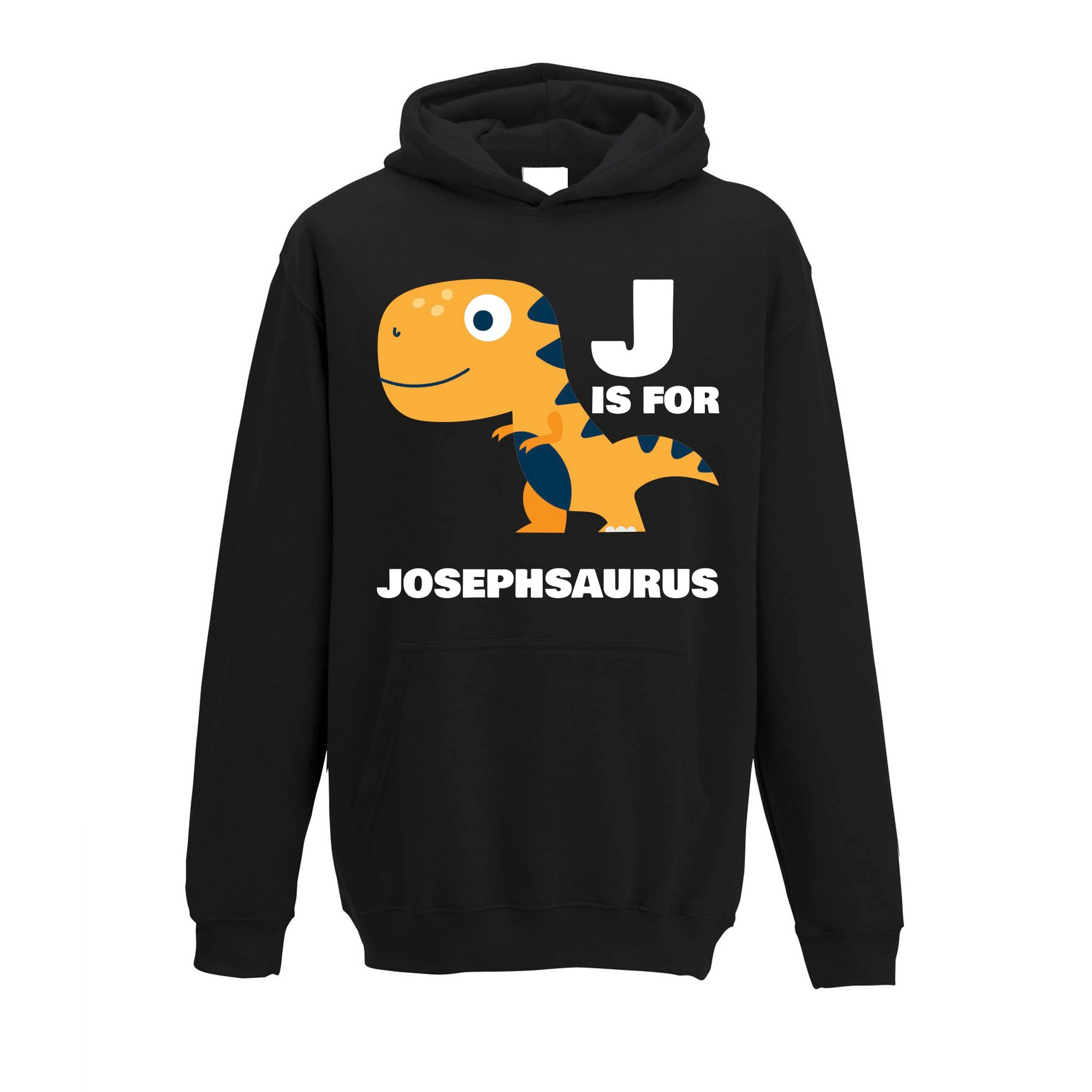 Dinosaur Kids Hoodie Joseph Saurus Birth Name Childs
