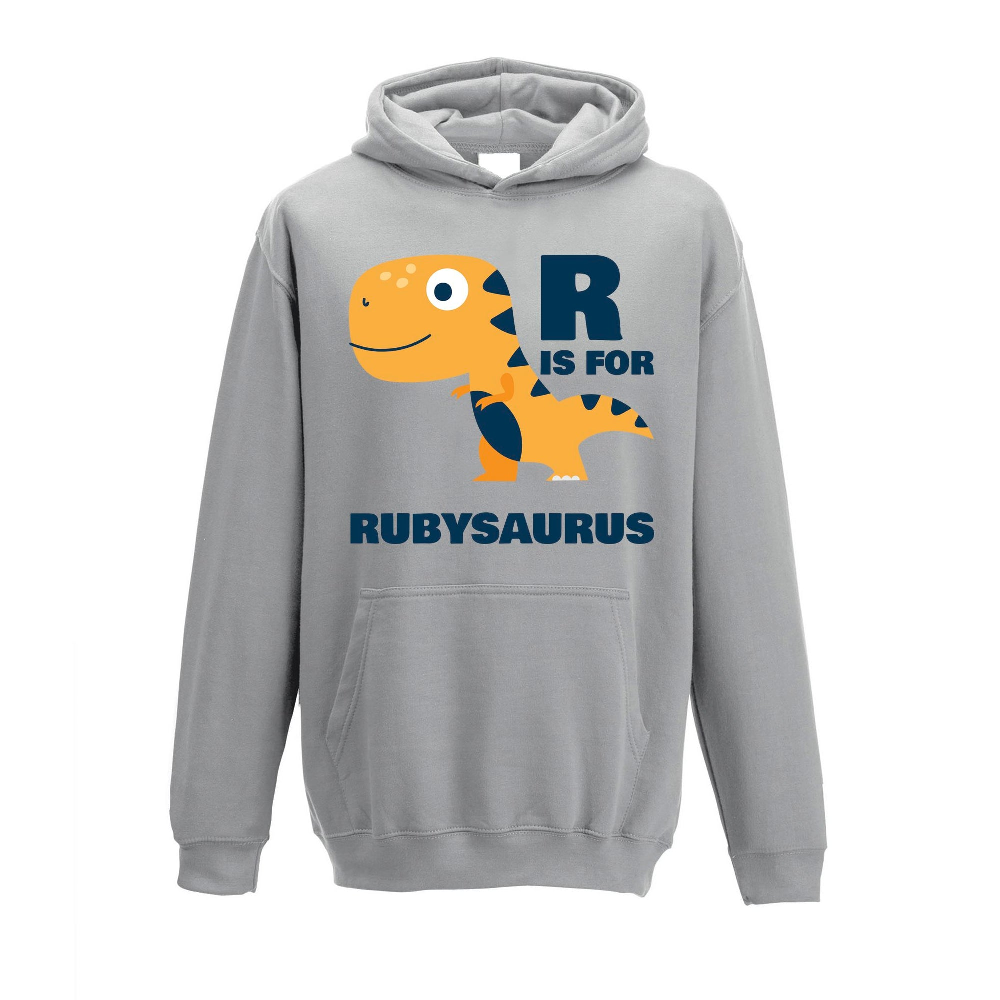 Dinosaur Kids Hoodie Ruby Saurus Birth Name Childs