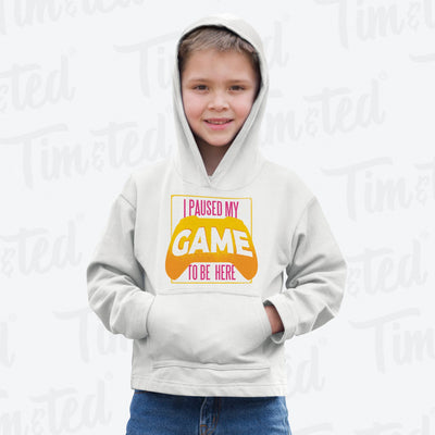 Gaming Kids Hoodie I Paused My Game For This Childs