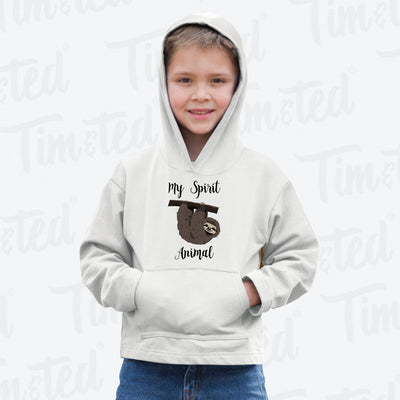 Novelty Lazy Kids Hoodie My Spirit Animal Is A Sloth Childs