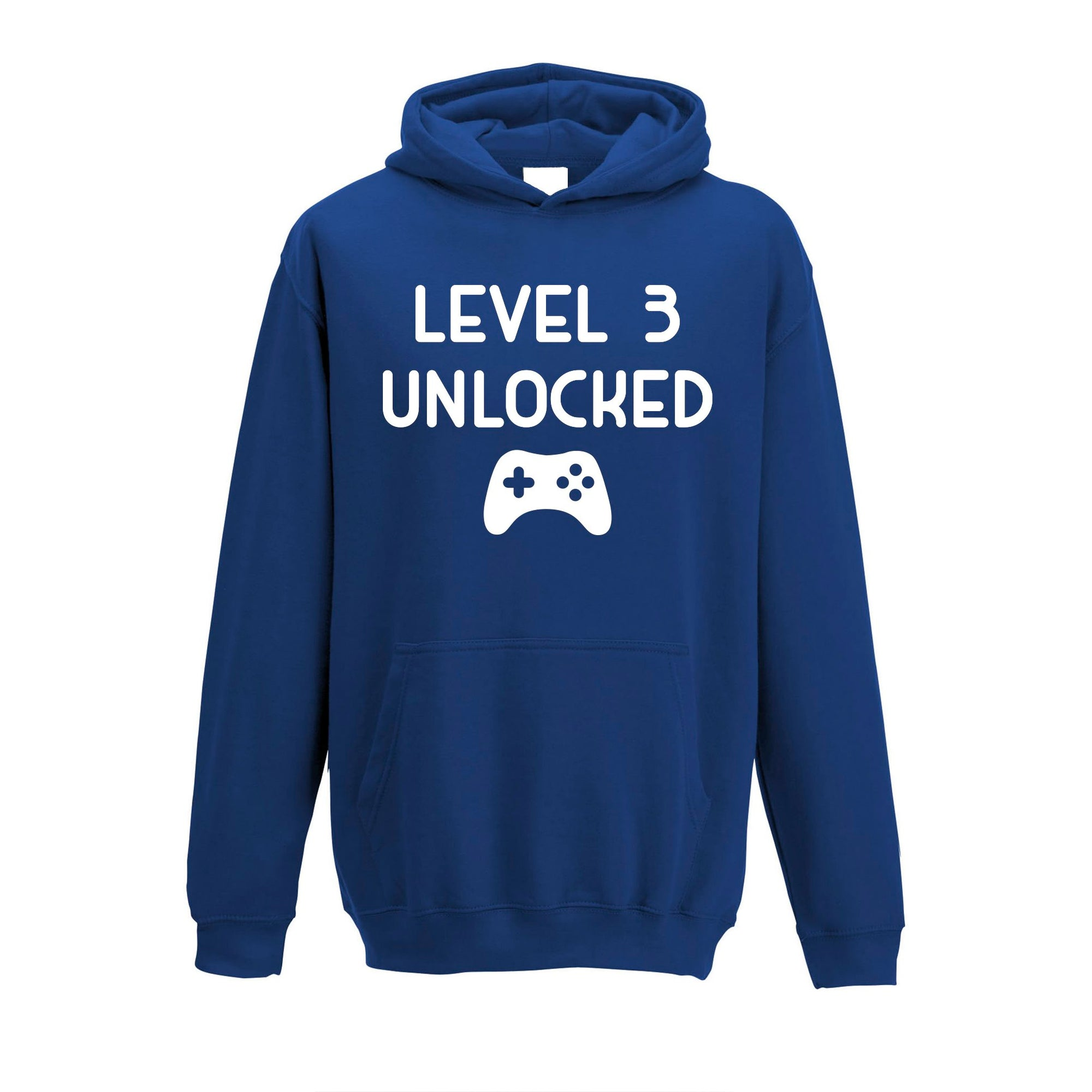 Gamers 3rd Birthday Kids Hoodie Level 3 Unlocked Kids Childs