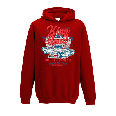 Retro Car Kids Hoodie King Of The Road 1979 Racing Art Childs