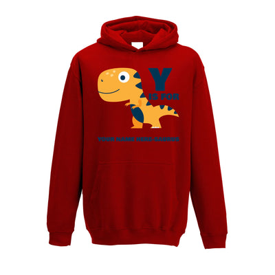 Personalised Dinosaur Kids Hoodie Your Name Here-Saurus Childs
