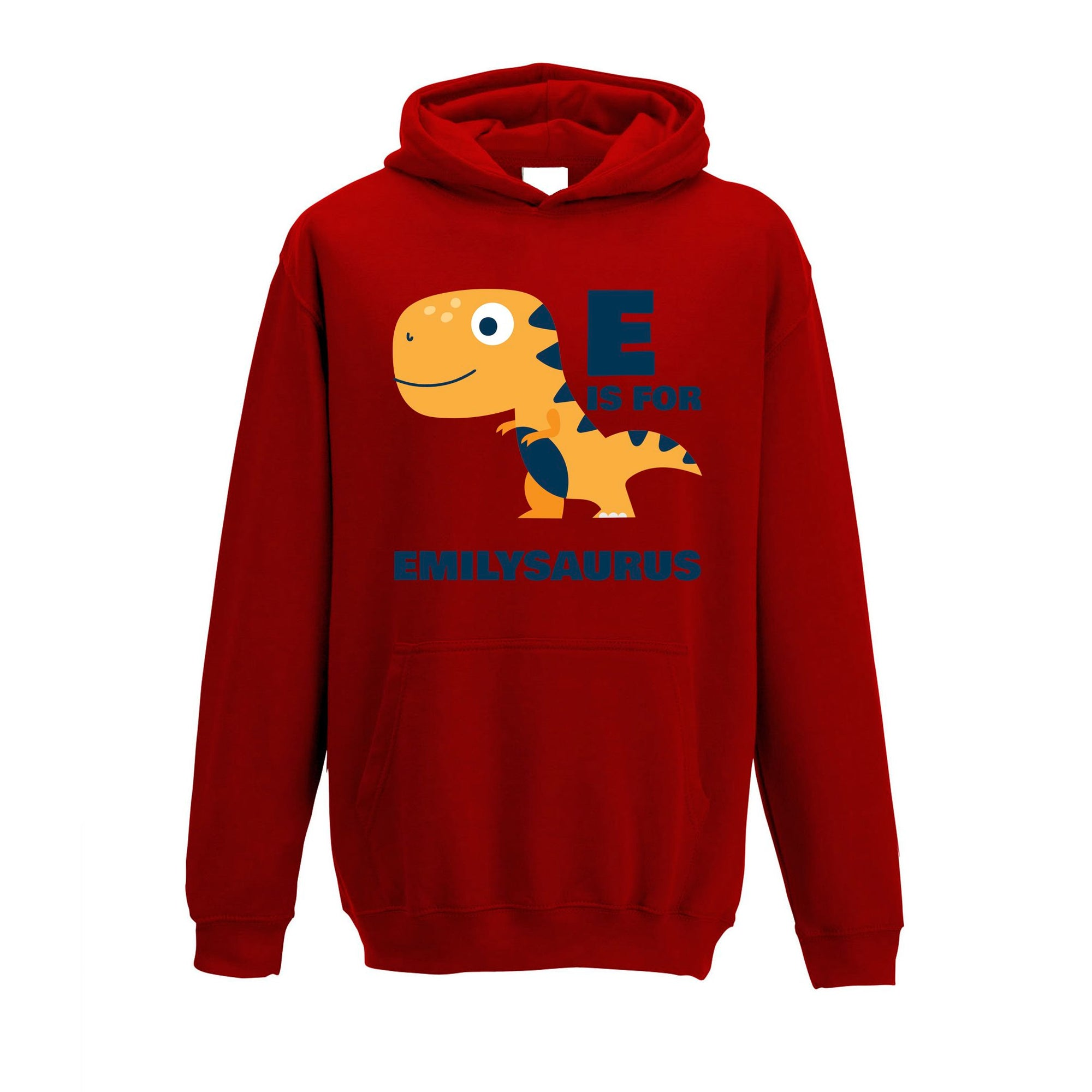 Dinosaur Kids Hoodie Emily Saurus Birth Name Childs