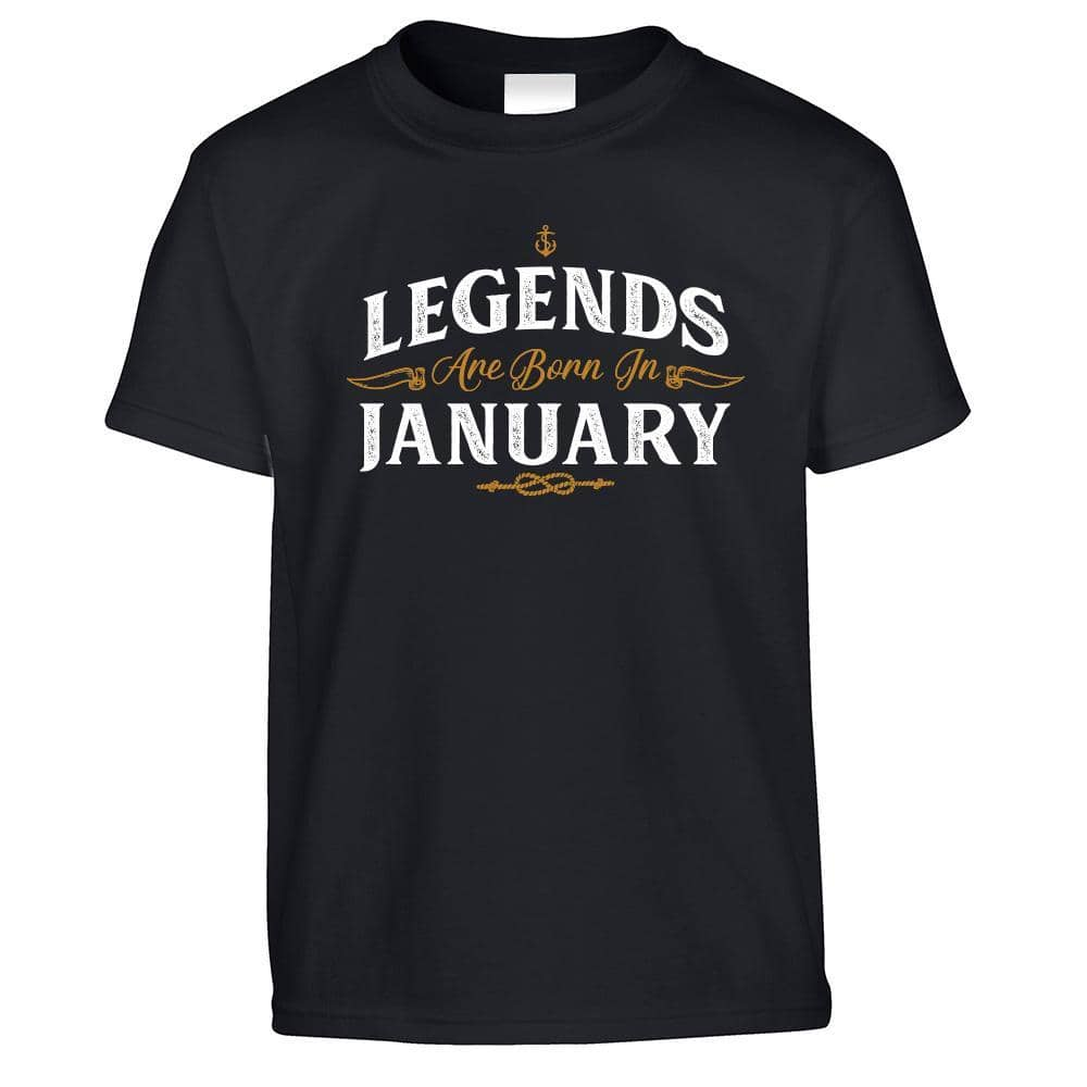 Birthday Kids T Shirt Legends Are Born In January