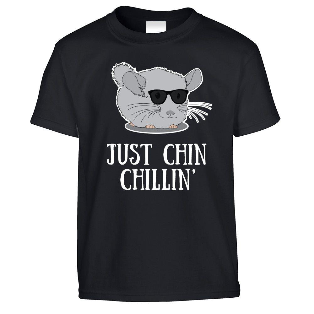 Novelty Kids T Shirt Just Chin Chilling Sunglasses Childs
