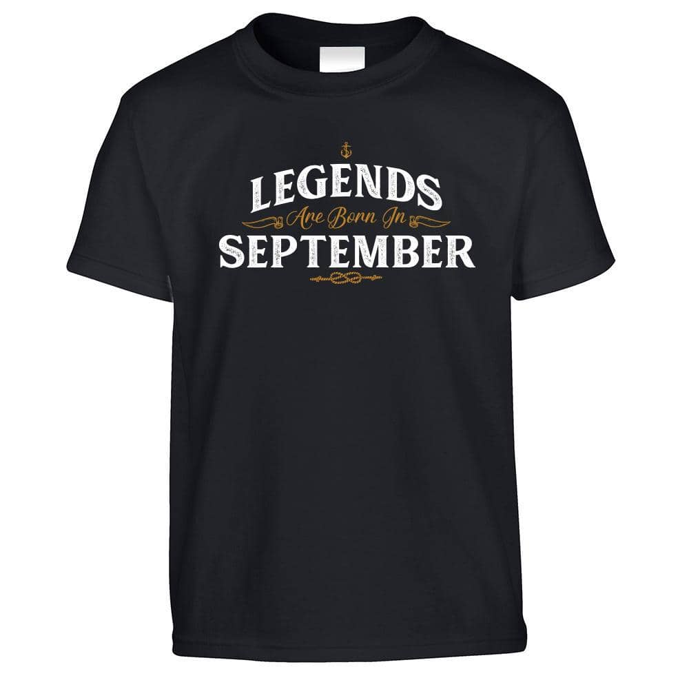 Birthday Kids T Shirt Legends Are Born In September