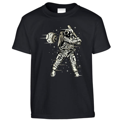 Geeky Sports Kids T Shirt Astronaut Space Baseball Art Childs