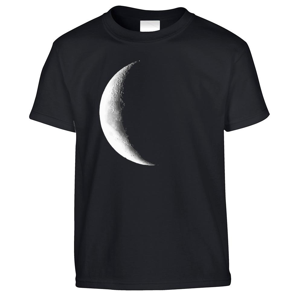 Space Kids T Shirt Crescent Half Moon Astronomy Childs