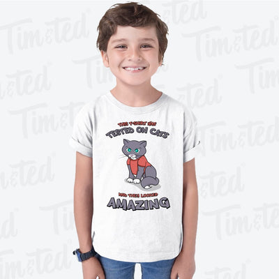 This Kids T Shirt Was Tested On Cats Cute Animal Childs