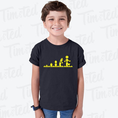 Bricks Evolution Retro Kids T Shirt Novelty Toy Childs Tee