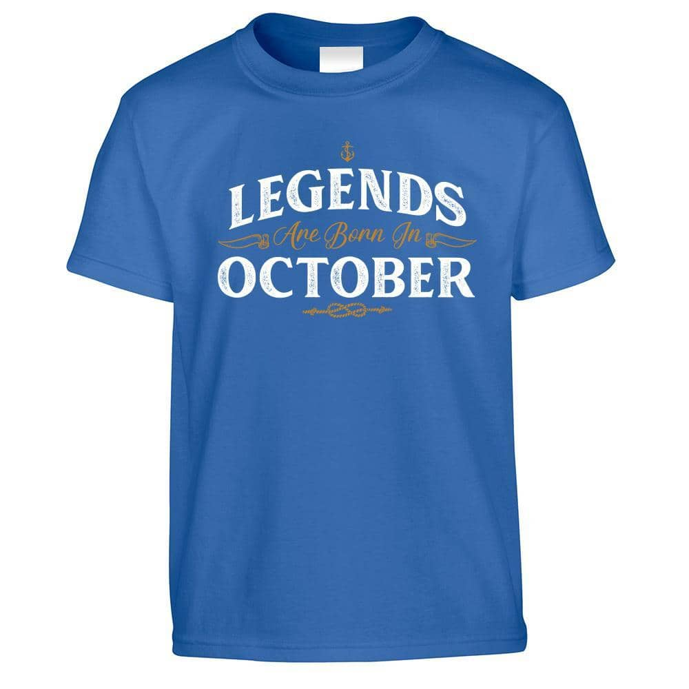 Birthday Kids T Shirt Legends Are Born In October