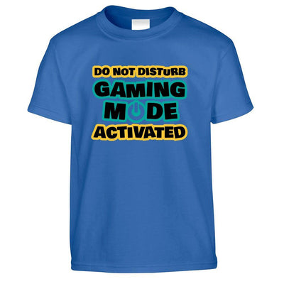Novelty Kids T Shirt Do Not Disturb, Gaming Mode Activated Childs