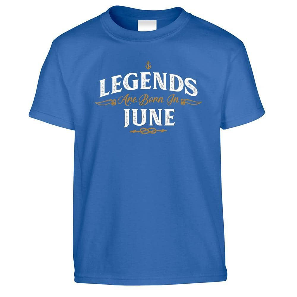 Birthday Kids T Shirt Legends Are Born In June