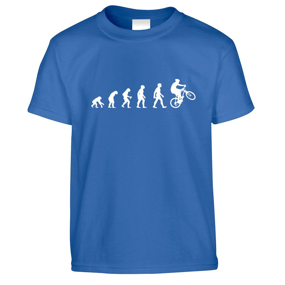 Sports Kids T Shirt Evolution Of A Mountain Biker Childs