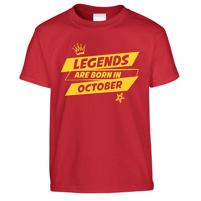 Birthday Kid's T Shirt Legends Are Born In October kids