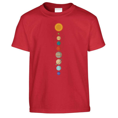 Cool Nerdy Kids T Shirt Geometric Solar System Space Art Childs