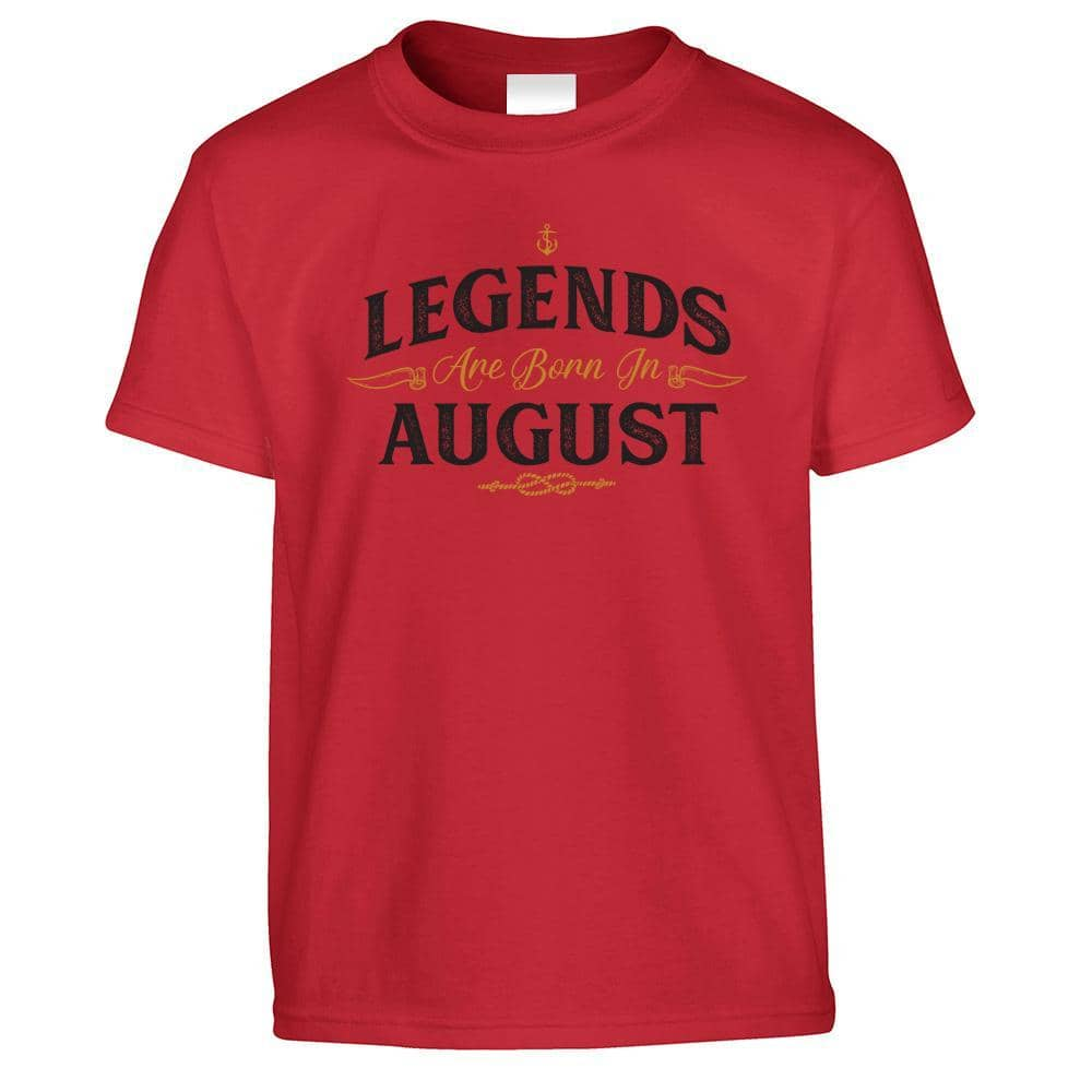 Birthday Kids T Shirt Legends Are Born In August
