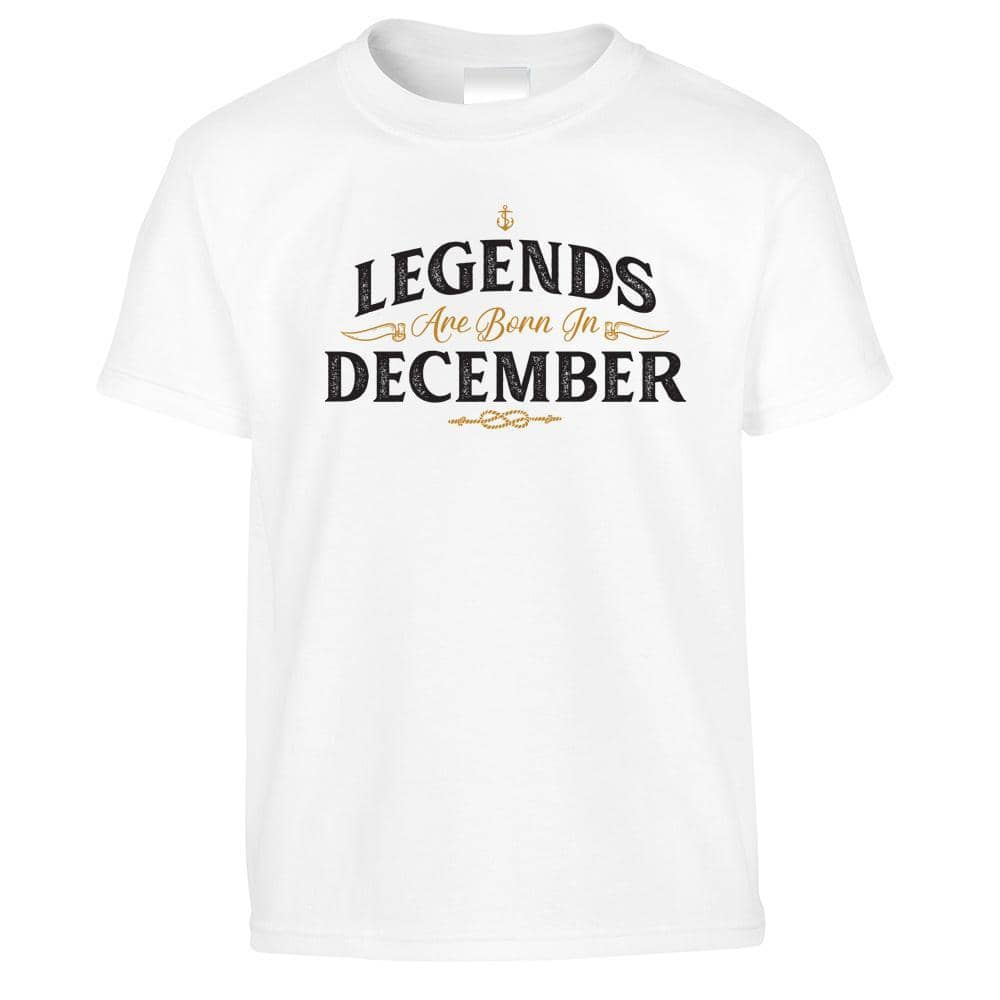 Birthday Kids T Shirt Legends Are Born In December