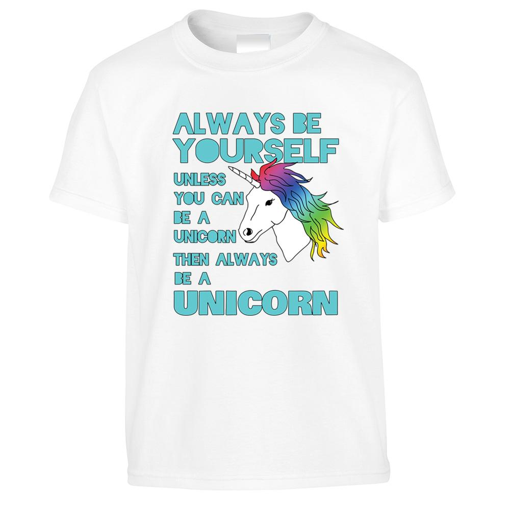 Novelty Unicorn Kid's T Shirt Always Be Yourself