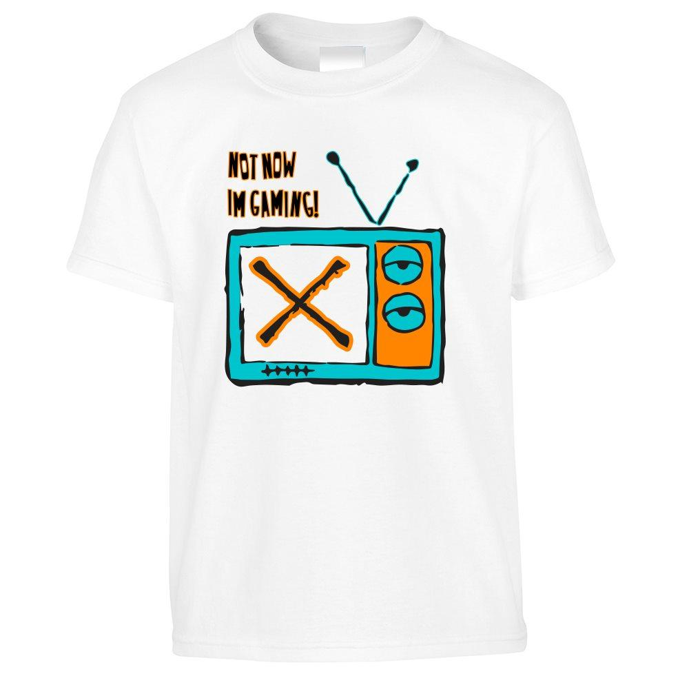 Novelty Kids T Shirt Not Now, I'm Gaming Slogan