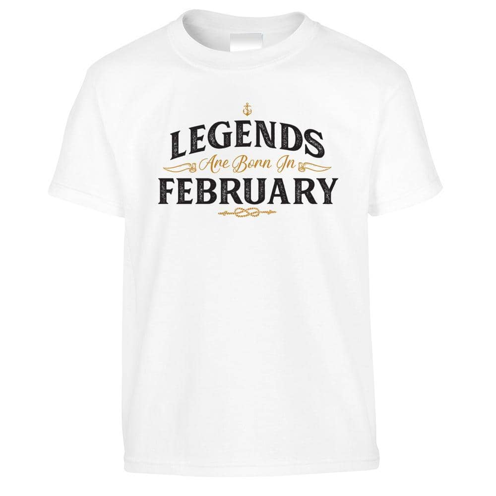 Birthday Kids T Shirt Legends Are Born In February