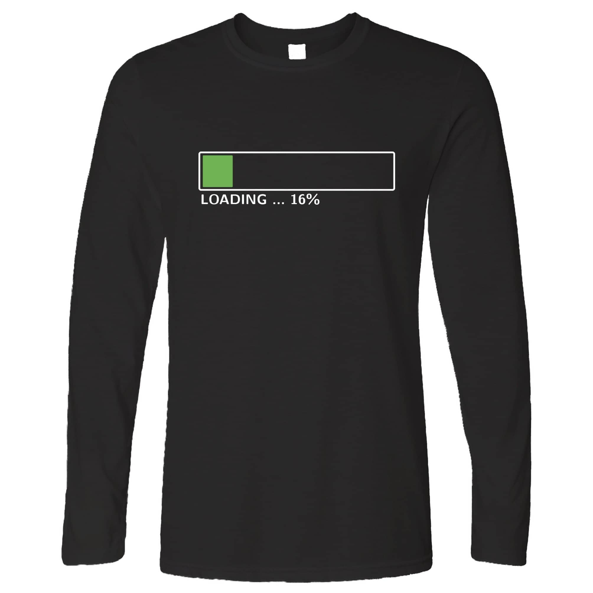 16th Birthday Long Sleeve Loading 16% Complete Sixteen T-Shirt