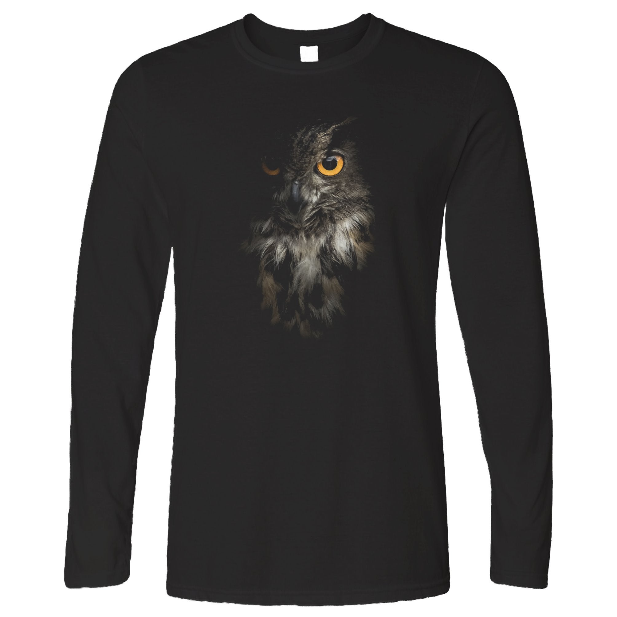 Owl Face Long Sleeve Nocturnal Bird Of Prey T-Shirt