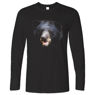 Bear Face Long Sleeve Powerful Black-Bear Head