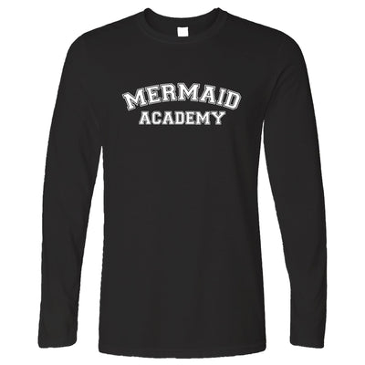 Novelty Mythical Long Sleeve Mermaid Academy Slogan