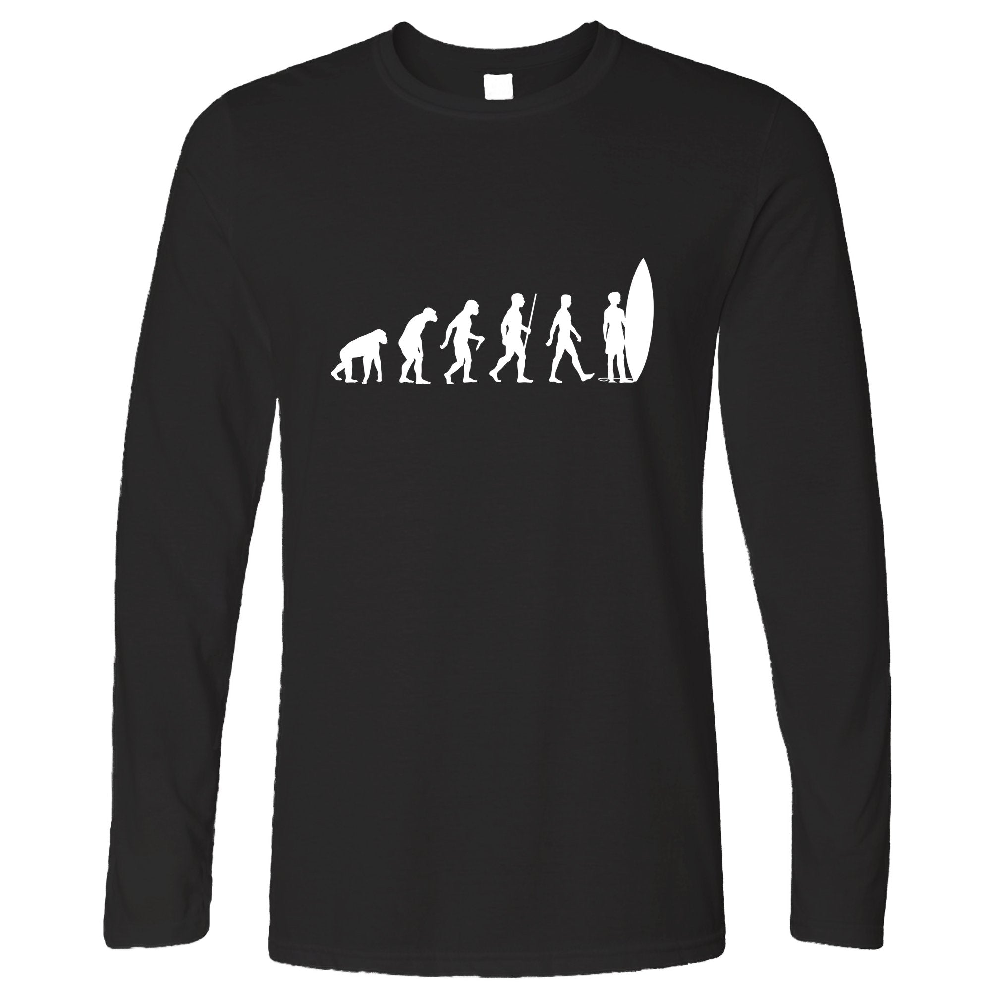 Summer Beach Long Sleeve Evolution Of A Surfer Dude T-Shirt