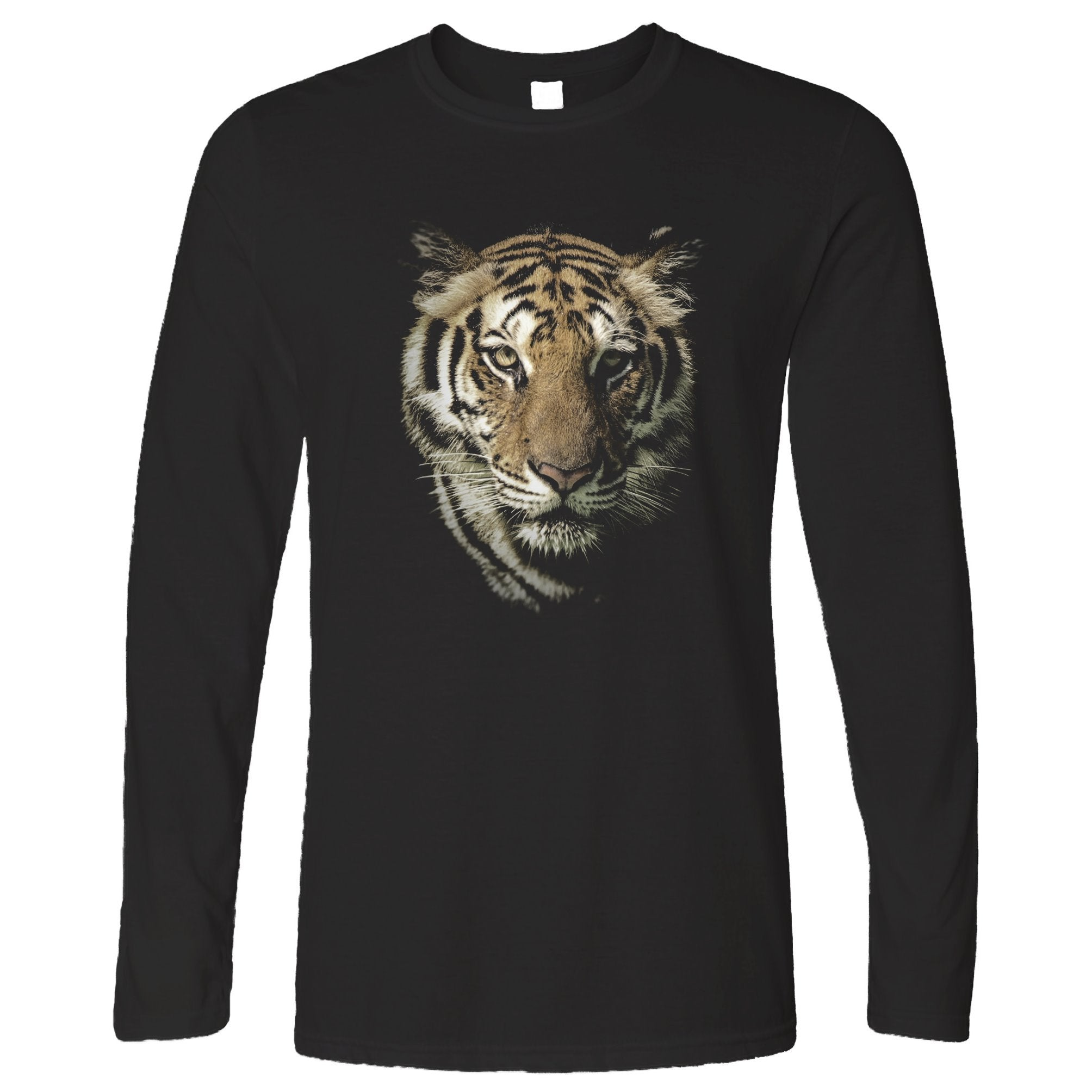 Tiger Face Long Sleeve Majestic Big Cat Head T-Shirt