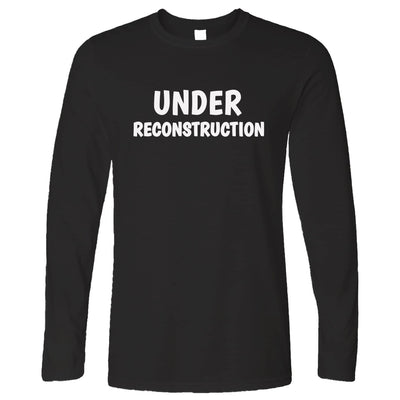 Novelty Gym Long Sleeve Under Reconstruction Slogan T-Shirt