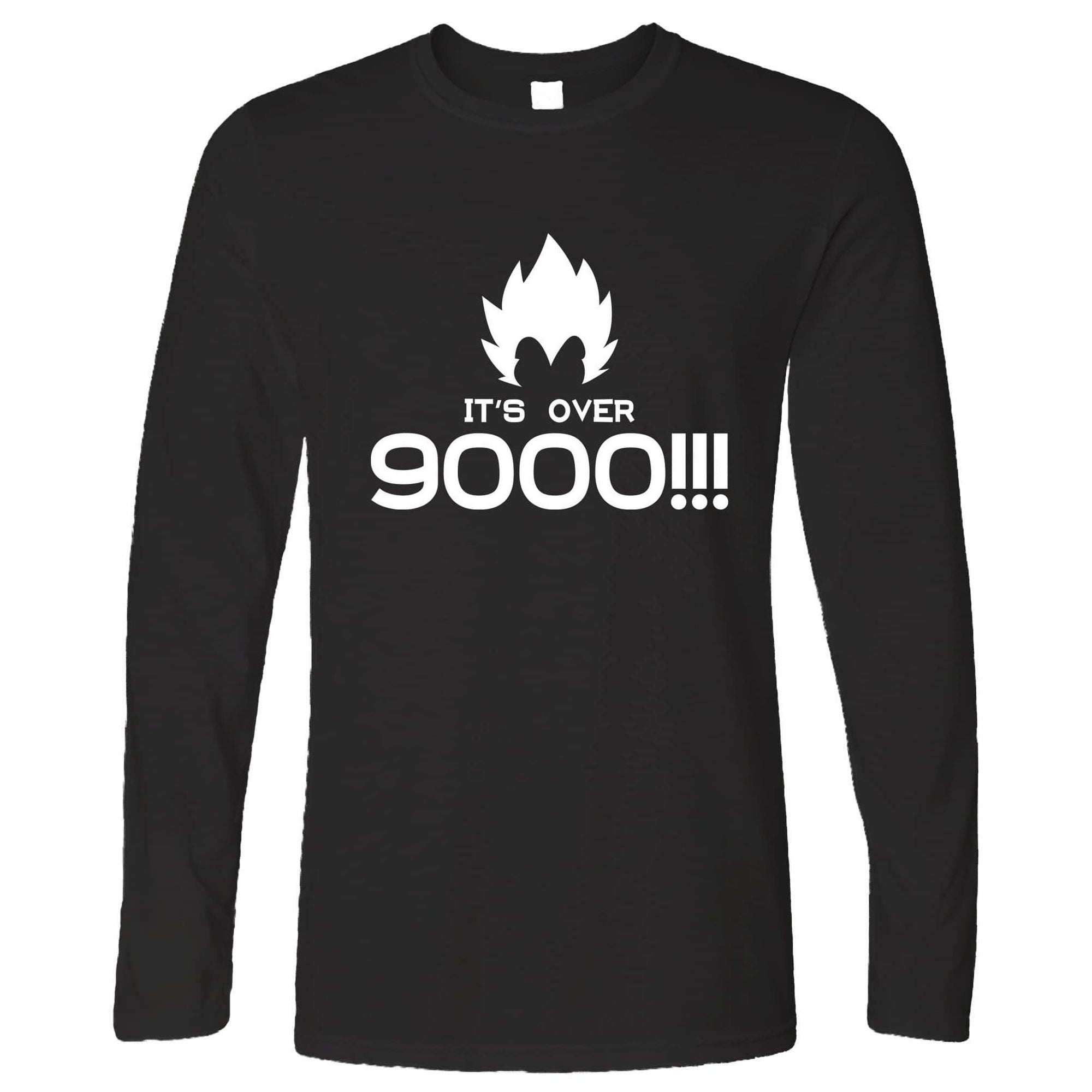Funny Anime Parody Long Sleeve It's Over 9000!! Slogan