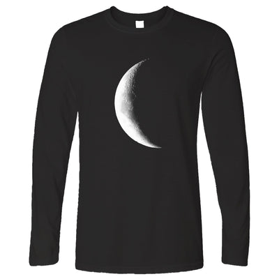 Space Long Sleeve Crescent Half Moon Astronomy T-Shirt