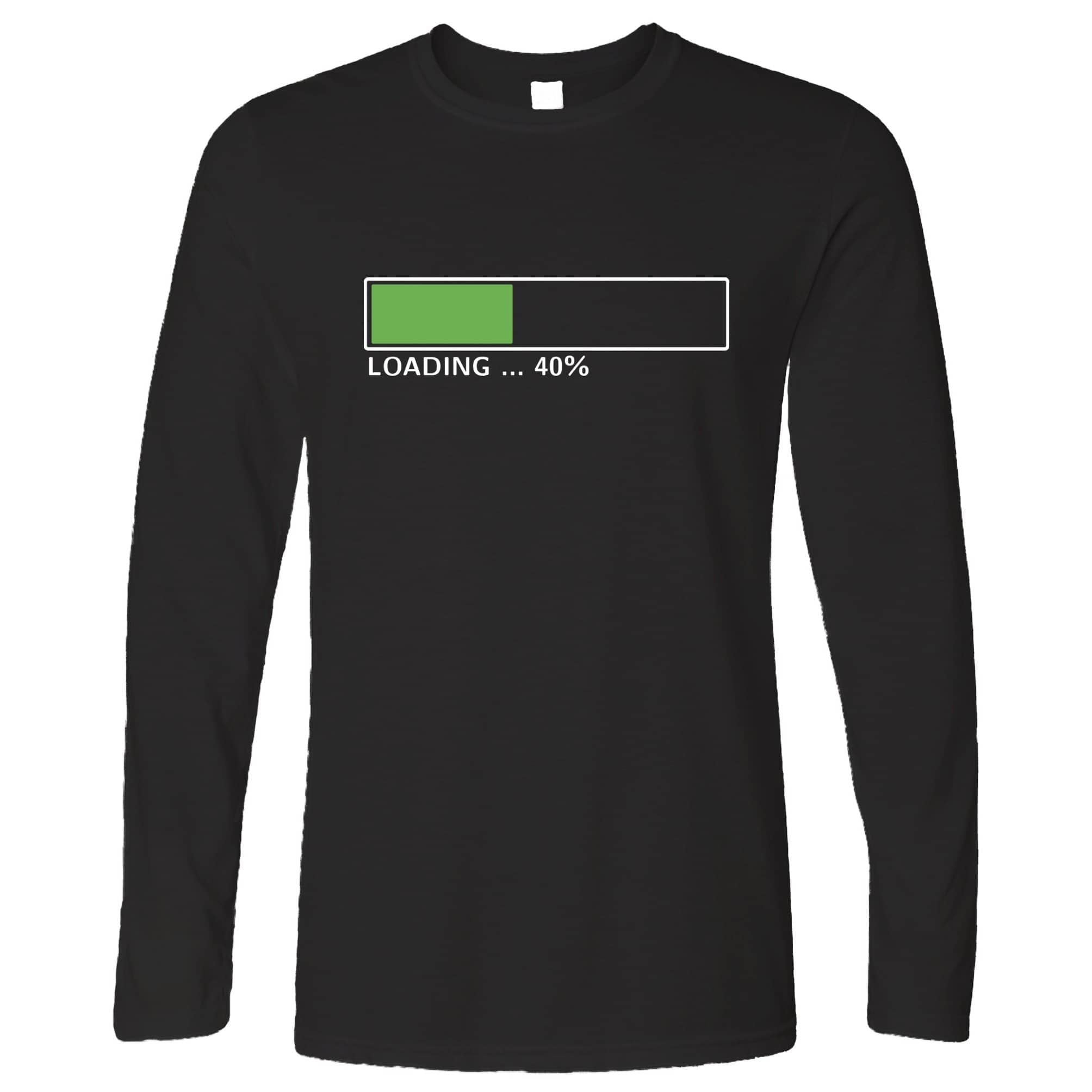 40th Birthday Long Sleeve Loading 40% Complete Forty T-Shirt