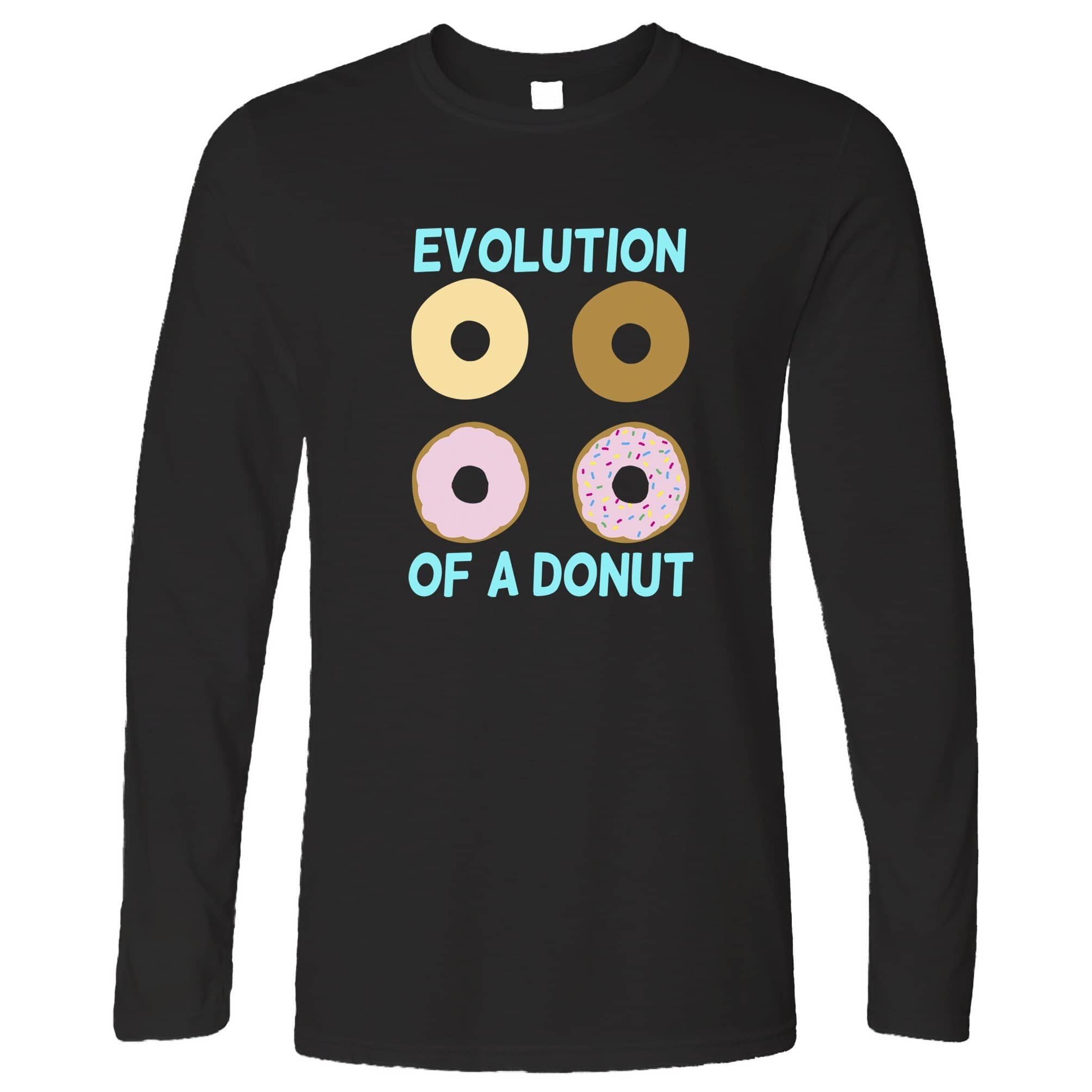Novelty Food Long Sleeve The Evolution Of A Donut T-Shirt