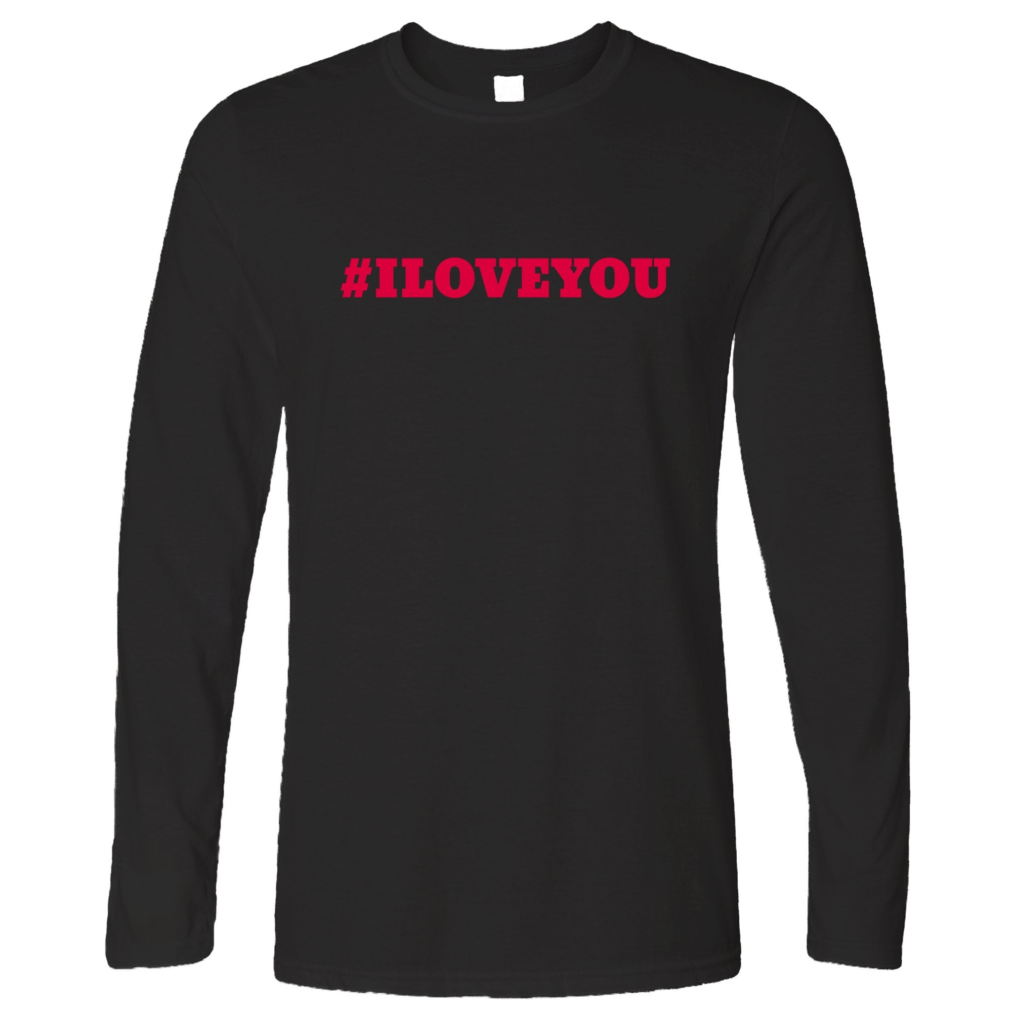 Trendy Internet Long Sleeve Hashtag I LOVE YOU T-Shirt