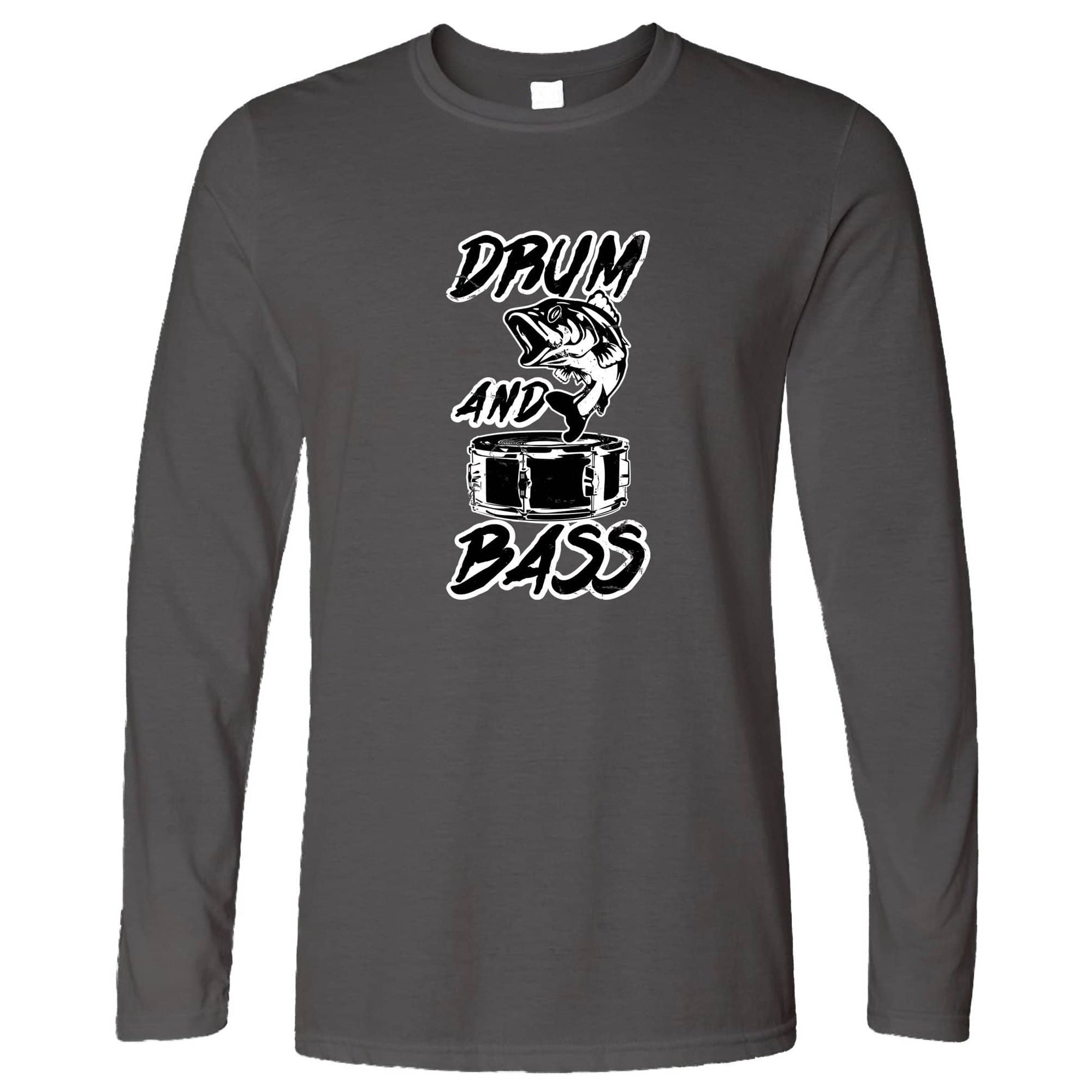 Funny Music Long Sleeve Drum And Bass Fish Slogan